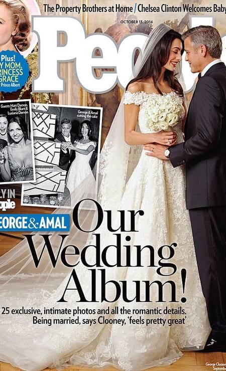 Foi ele quem criou o vestido de noiva de Amal Alamuddin para o badalado casamento com George Clooney Foto: © People