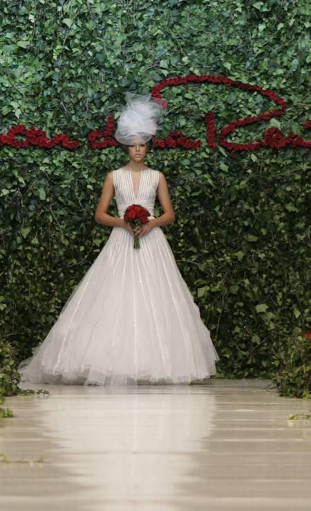 Vestido de noiva desenhado por Oscar de la Renta Foto: Christian Escobar Mora / AP