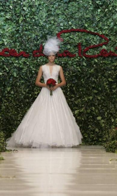 Vestido de noiva desenhado por Oscar de la Renta Christian Escobar Mora / AP