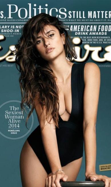 """Penélope Cruz deve estar feliz da vida com o prêmio que acaba de entrar em seu currículo. A atriz espanhola foi eleita a mulher mais sexy do mundo de 2014 pela revista """"Esquire"""" AP"""