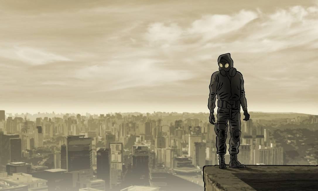 """Em """"Dark web"""", o Doutrinador retoma a luta contra políticos e criminosos Foto: Reprodução / reprodução/Luciano Cunha"""