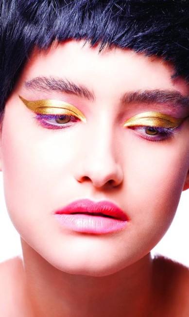 """""""Pensei muito no público que ia ver a imagem, em uma mulher real. Tem um pouco de fantasia, um pouco de drama, mas no geral são coisas que podem ser usadas, sim"""", explicou a maquiadora Brunel Galhego Ricci"""
