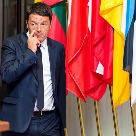 Renzi garante que seu plano para impulsionar o crescimento não prejudicaria as finanças públicas Foto: Geert Vanden Wijngaert / AP