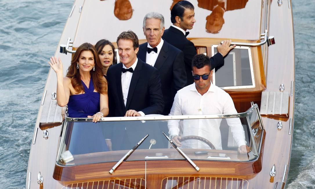 Os canais de Veneza ficaram pequenos para tantas celebridades STEFANO RELLANDINI / REUTERS