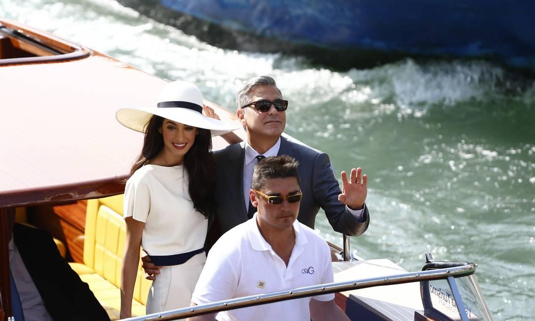George Clooney e Amal Alamuddin PIERRE TEYSSOT / AFP