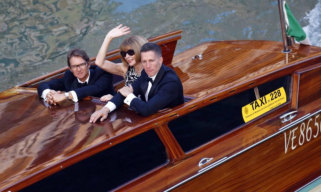 """A editora da """"Vogue"""" americana, Anna Wintour, também participou do evento STEFANO RELLANDINI / REUTERS"""