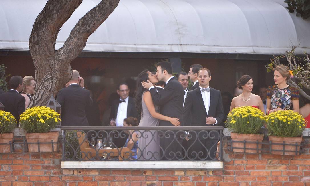 Convidados acompanharam a cerimônia no Hotel Cipriani, em Veneza ANDREAS SOLARO / AFP
