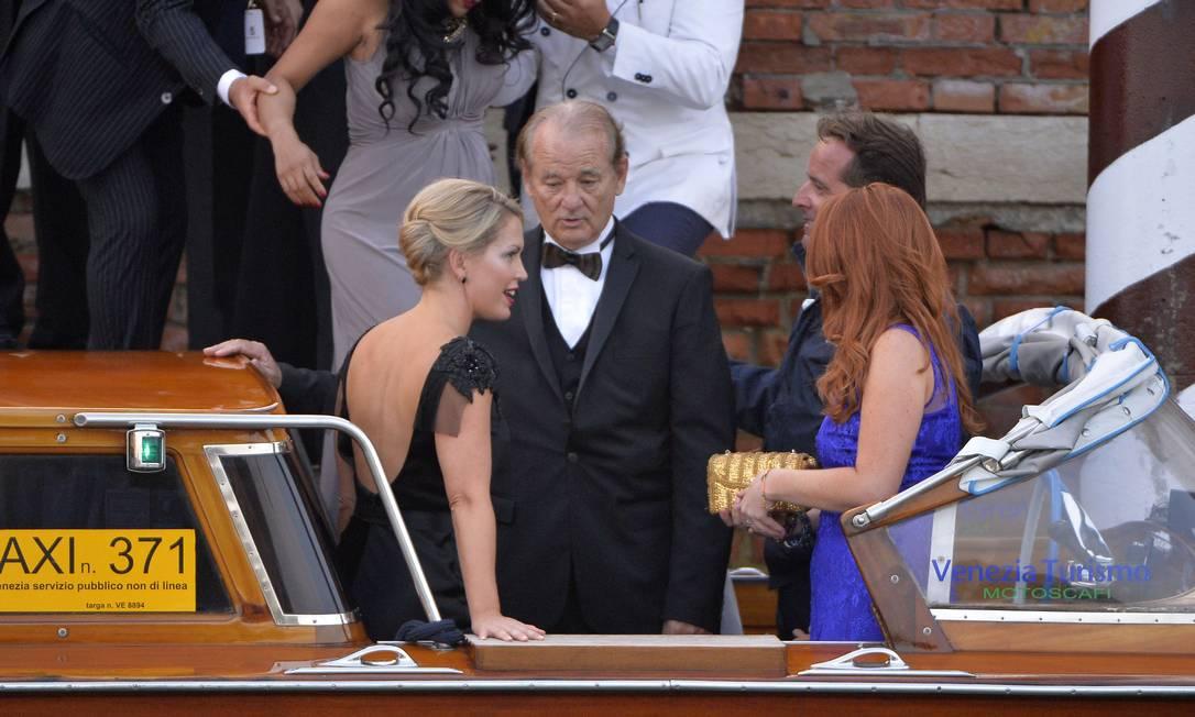 O ator Bill Murray (no centro) foi outra estrela que prestigiou a cerimônia ANDREAS SOLARO / AFP