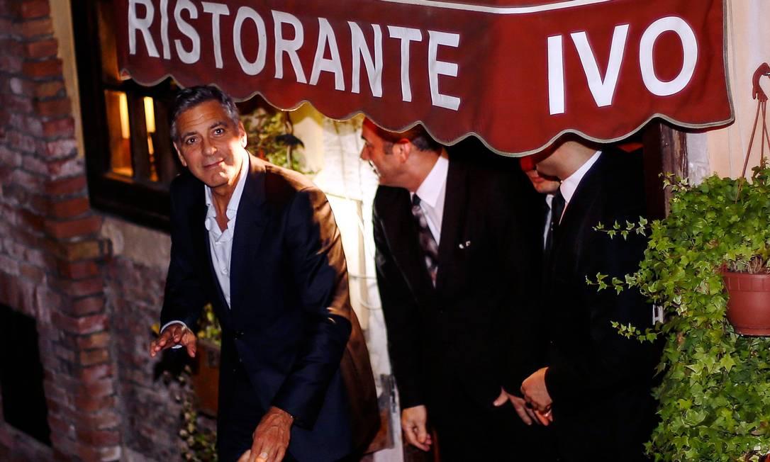 Clooney não divulgou a data do seu casamento com a advogada britânica Amal Alamuddin, mas a expectativa é que a cerimônia aconteça nas próximas horas Pierre Teyssot / AFP