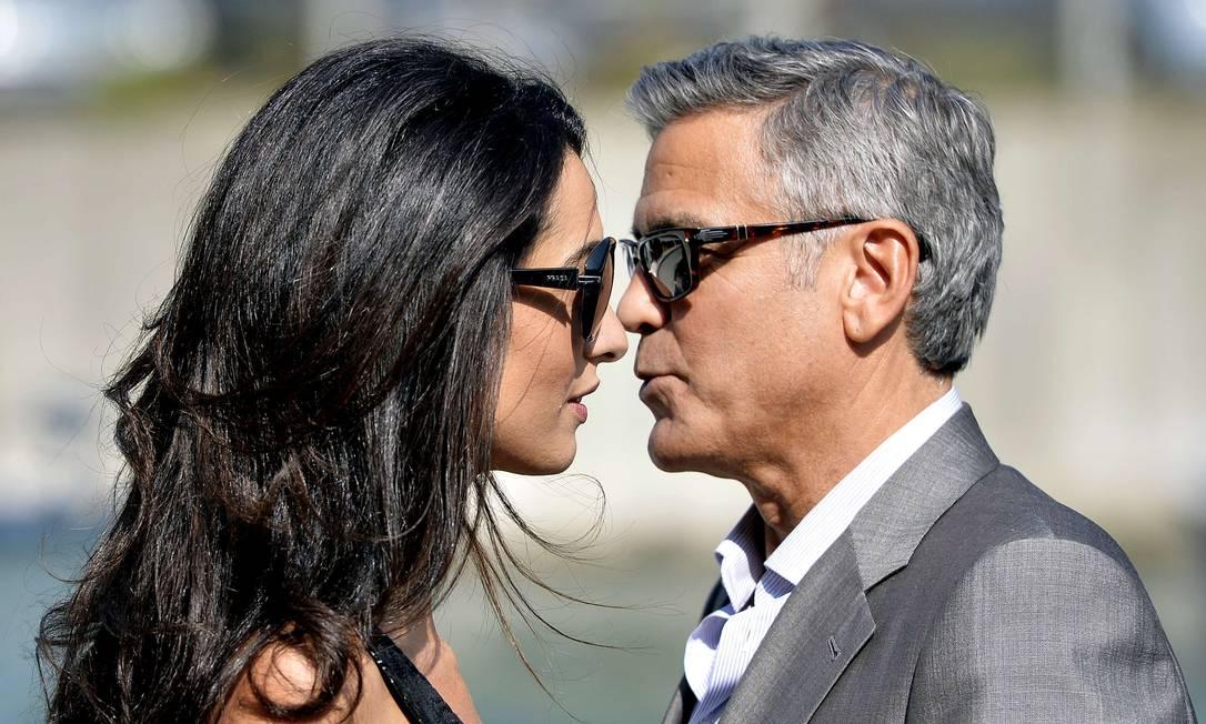 O casal em clima de romance antes do 'sim' ANDREAS SOLARO / AFP