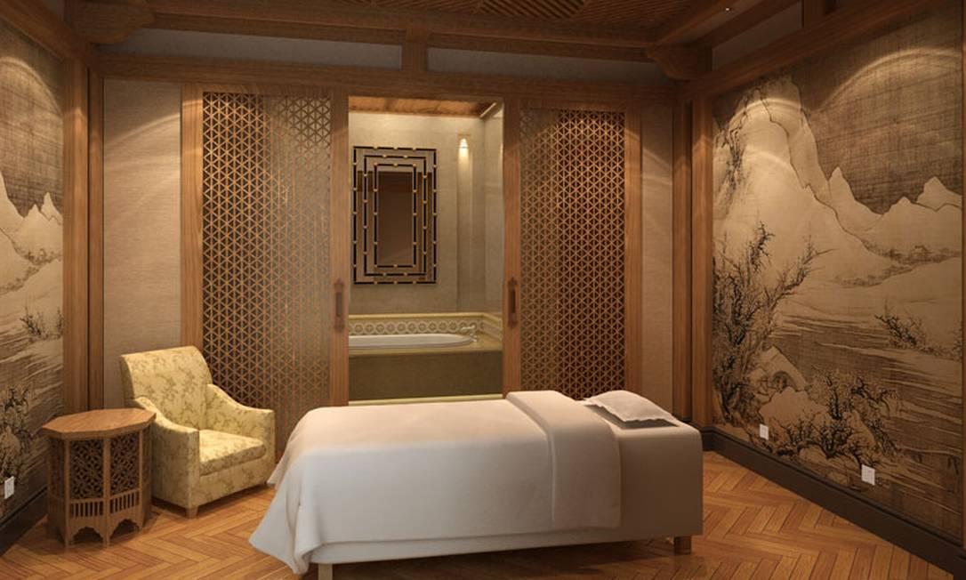 O Kaiser Spa, uma das atrações do hotel chinês Divulgação / The Hotel Castle