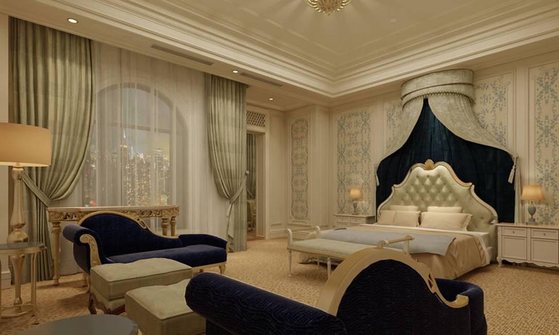 Imagem da suíte presidencial Divulgação / The Hotel Castle
