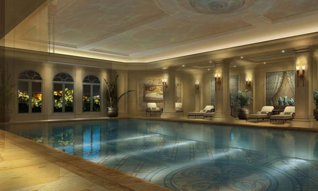 A suntuosa piscina do hotel Foto: Divulgação / The Hotel Castle