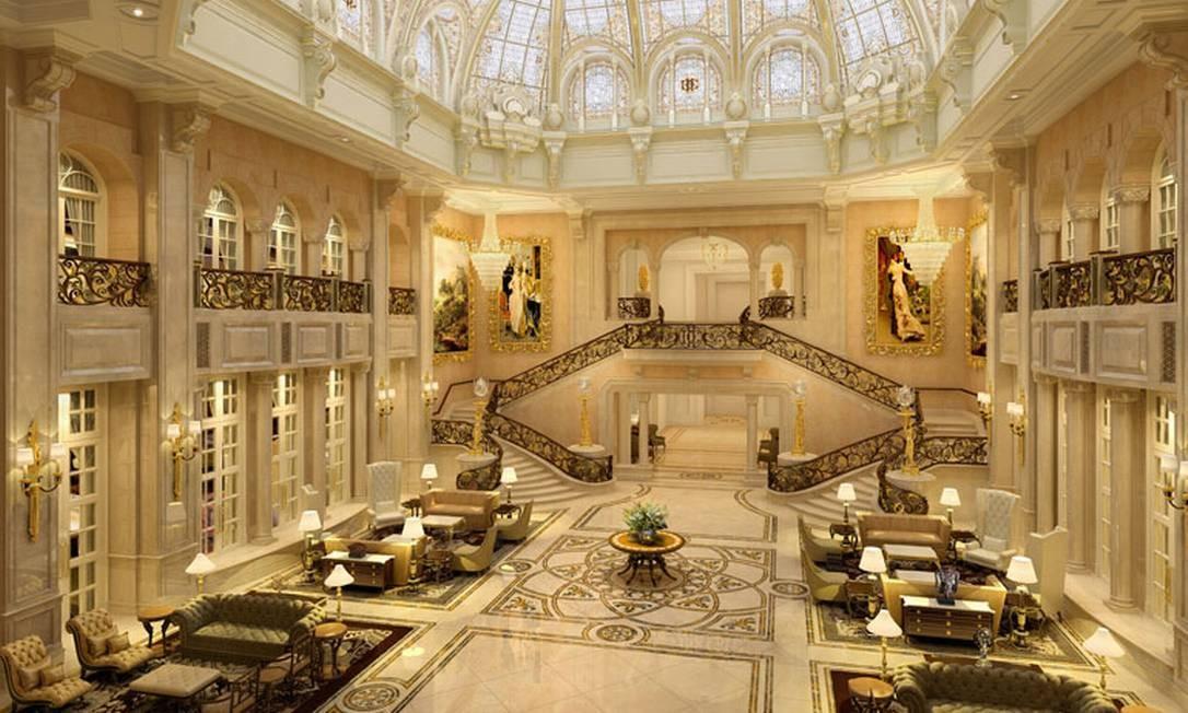 Com decoração totalmente inspirada no velho continente, o local tem quartos com diárias que vão desde 95 euros (aproximadamente R$ 287) até 12.500 euros na suíte presidencial ( R$ 37 mil) Foto: Divulgação / The Hotel Castle