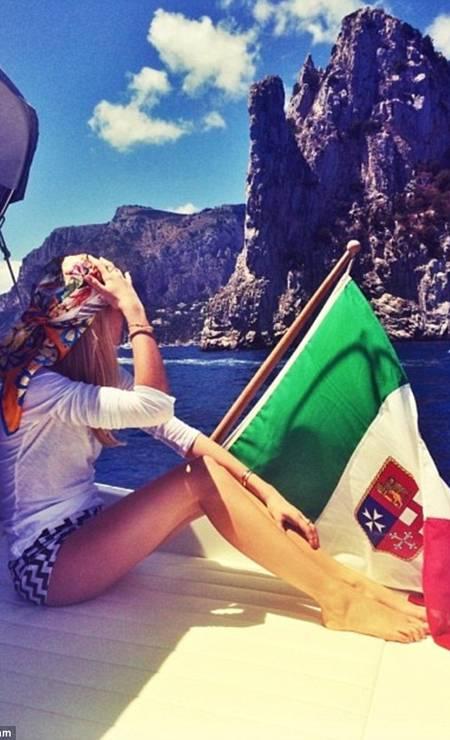 Curtindo o passeio de barco em Capri, na Itália Foto: Instagram