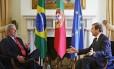 Lula e o primeiro-ministro de Portugal, Pedro Passos Coelho
