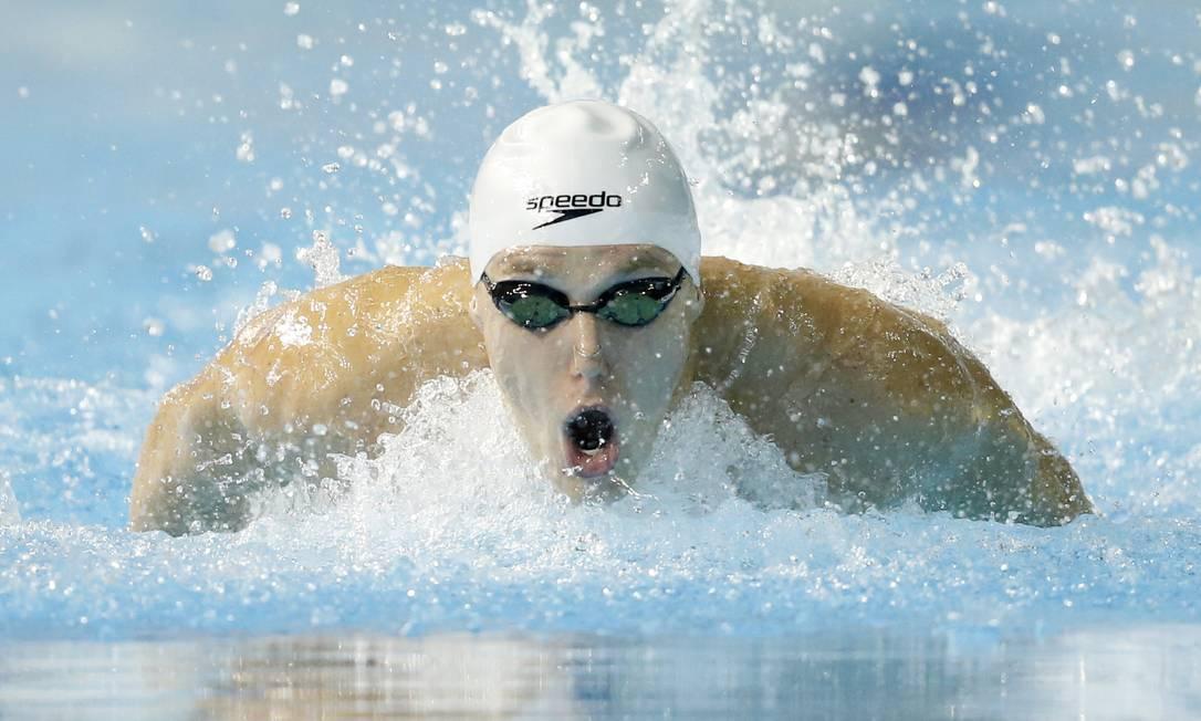 Henrique Rodrigues, do Brasil, vence a final dos 200m medley e conquista a medalha de ouro Erich Schlegel / USA Today Sports