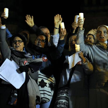 Representantes de igrejas e religiões se reúnem em Bogotá para paz para a Colômbia Foto: GUILLERMO LEGARIA / AFP