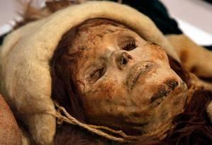 """Conhecida como """"Bela de Xiaohe"""", múmia encontrada na Bacia de Tarim possui traços ocidentais Foto: AP/Matt Rourke"""