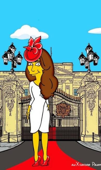 "Artista italiano transforma Kate Middleton em personagem de ""Os Simpsons"" Alexsandro Palombo/ The Independent"