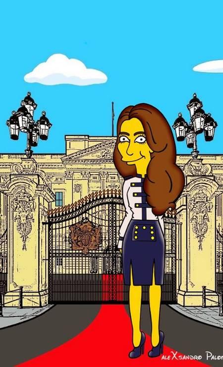 "Artista italiano transforma Kate Middleton em personagem de ""Os Simpsons"" Foto: Alexsandro Palombo/ The Independent"