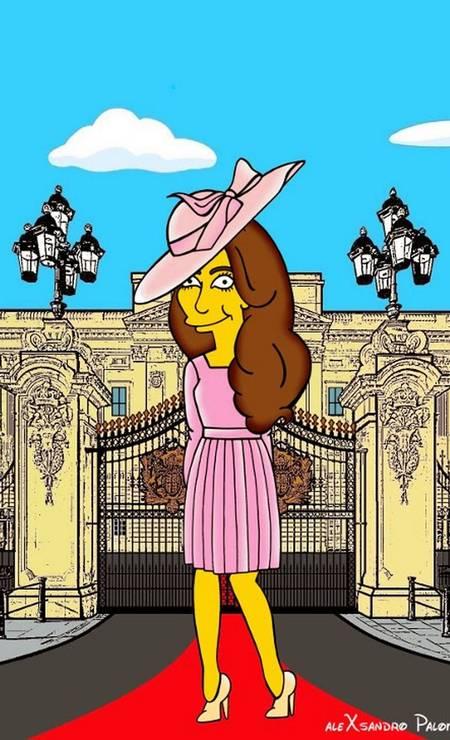 Conhecido por seus desenhos irreverentes, Palombo fez 55 imagens da duquesa de Cambridge usando alguns de seus looks mais icônicos Foto: Alexsandro Palombo/ The Independent