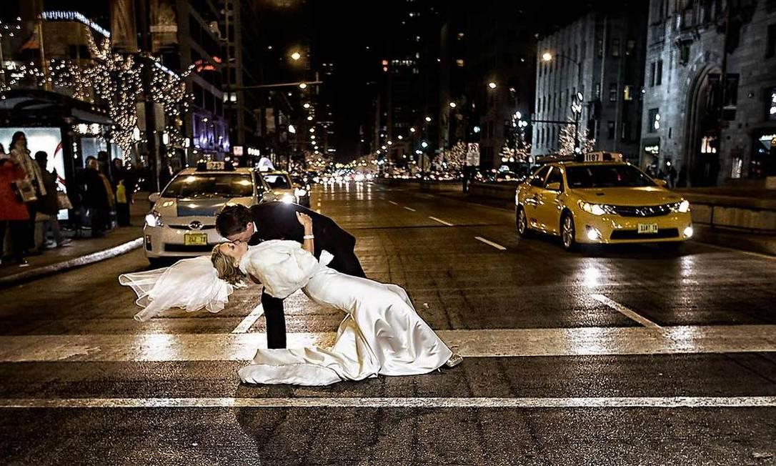 No trânsito de Chicago, nos EUA Wasio Photography