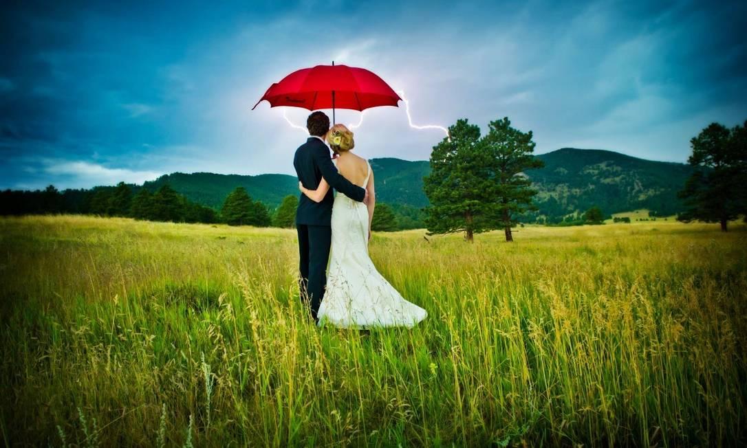 Meio do dia com tempestade no Colorado, nos EUA True Photography Weddings