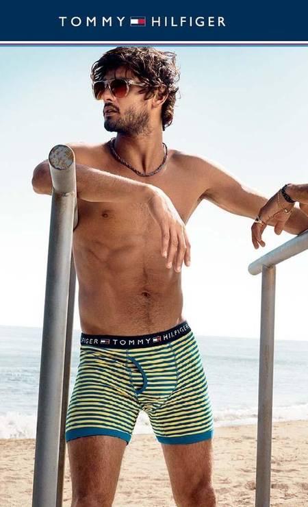 Um dos modelos favoritos de Tommy Hilfiger, Marlon foi o corpo da linha de underwear do designer na temporada de verão 2014 Foto: Divulgação