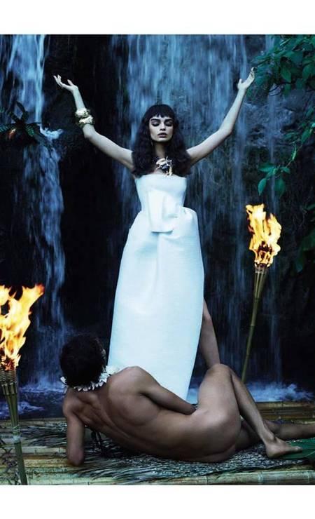 Na campanha de verão 2014 da Dsquared2, Marlon posou nu para a dupla Mert Alas & Marcus Piggott Foto: Divulgação