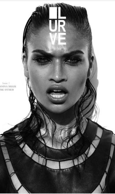 """Shanina Shaik na capa da """"Lurve"""" Divulgação"""