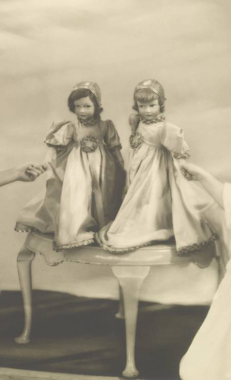 Bonecas das princesas Elizabeth e Margaret Foto: Royal Collection Trust / (C) Her Majesty Queen Elizabeth II 2014