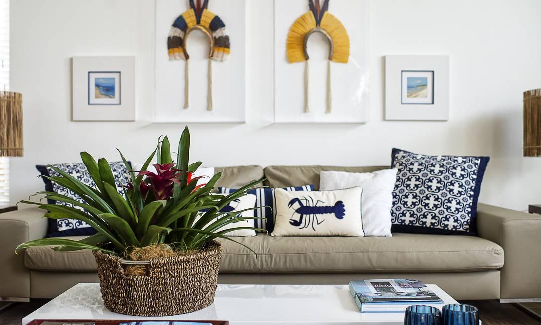 Detalhes étnicos, como os cocares na parede, dão charme e personalidade à casa Tati Pinho / Tati Pinho