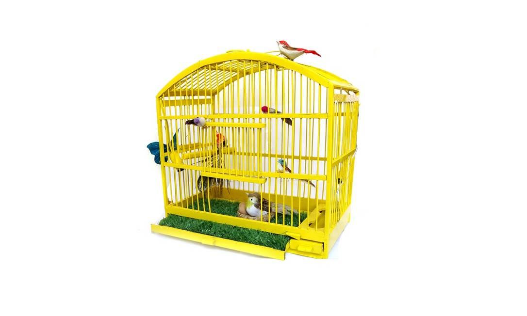 Gaiola para passarinhos de mentira da Le Modiste (R$ 380) Divulgação / Divulgação