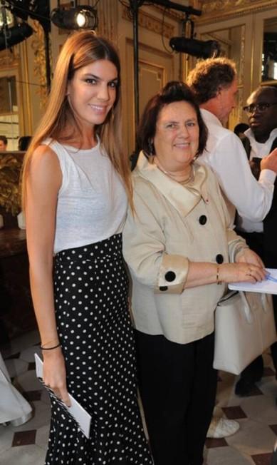 """Bianca Brandolini com Suzy Menkes, editora internacional da """"Vogue"""" Divulgação"""