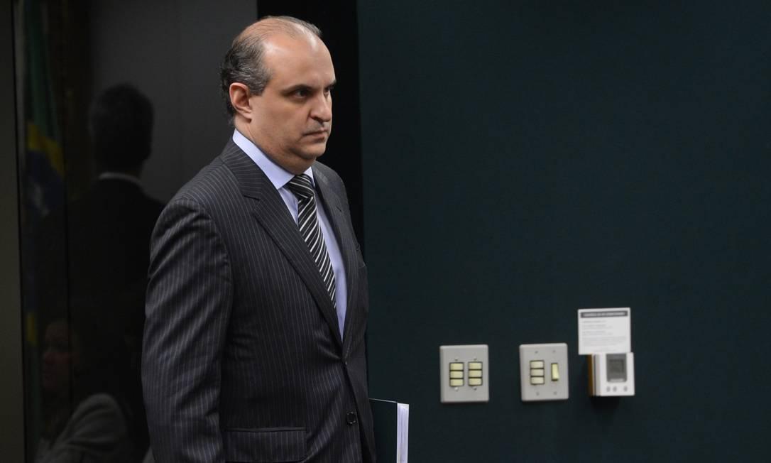 Dalton dos Santos Avancini, durante depoimento na CPI da Petrobras Foto: Agência Brasil / Wilson Dias