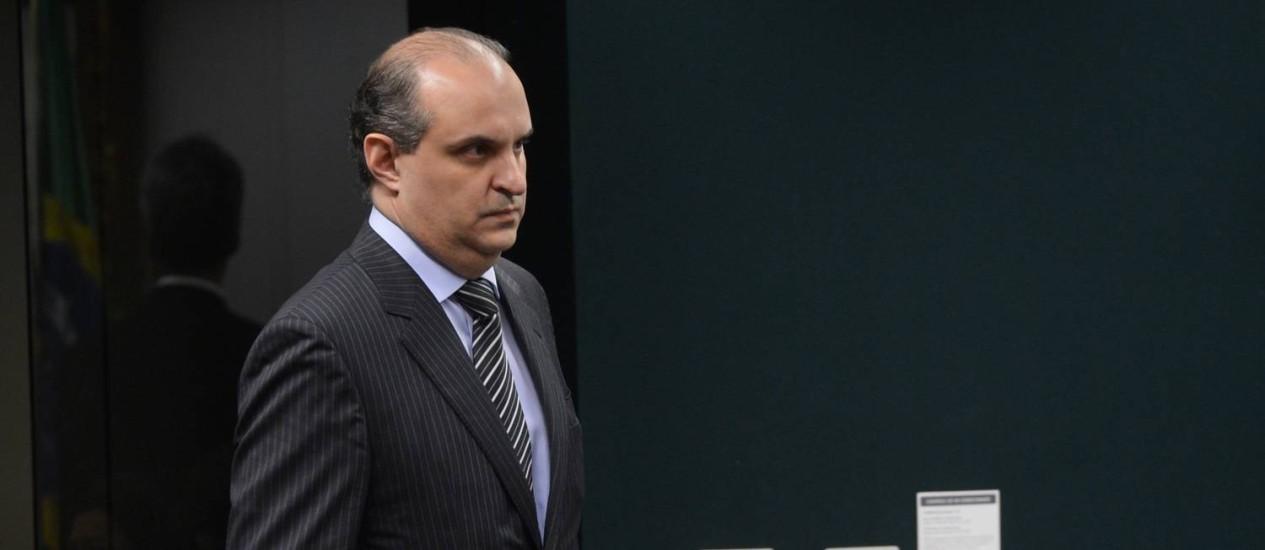 O ex-presidente da construtora Camargo Corrêa, Dalton dos Santos Avancini, durante depoimento na CPI da Petrobras Foto: Agência Brasil / Wilson Dias