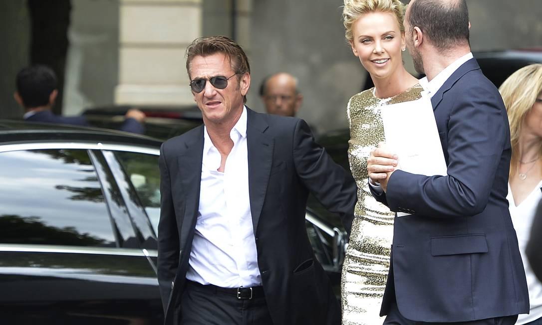 A chegada do casal ao desfile MIGUEL MEDINA / AFP