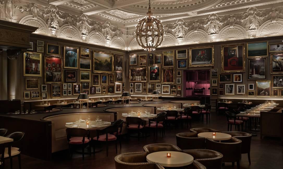 O salão do Berners Tavern, no Hotel London Edition: Kate Moss é cliente Divulgação
