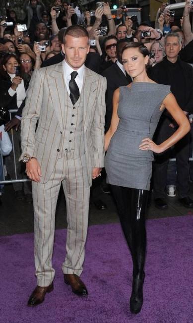 Em 2008, David e Victoria no lançamento do perfume Beckham Signature, na Macy's, em Nova York Evan Agostini / AP