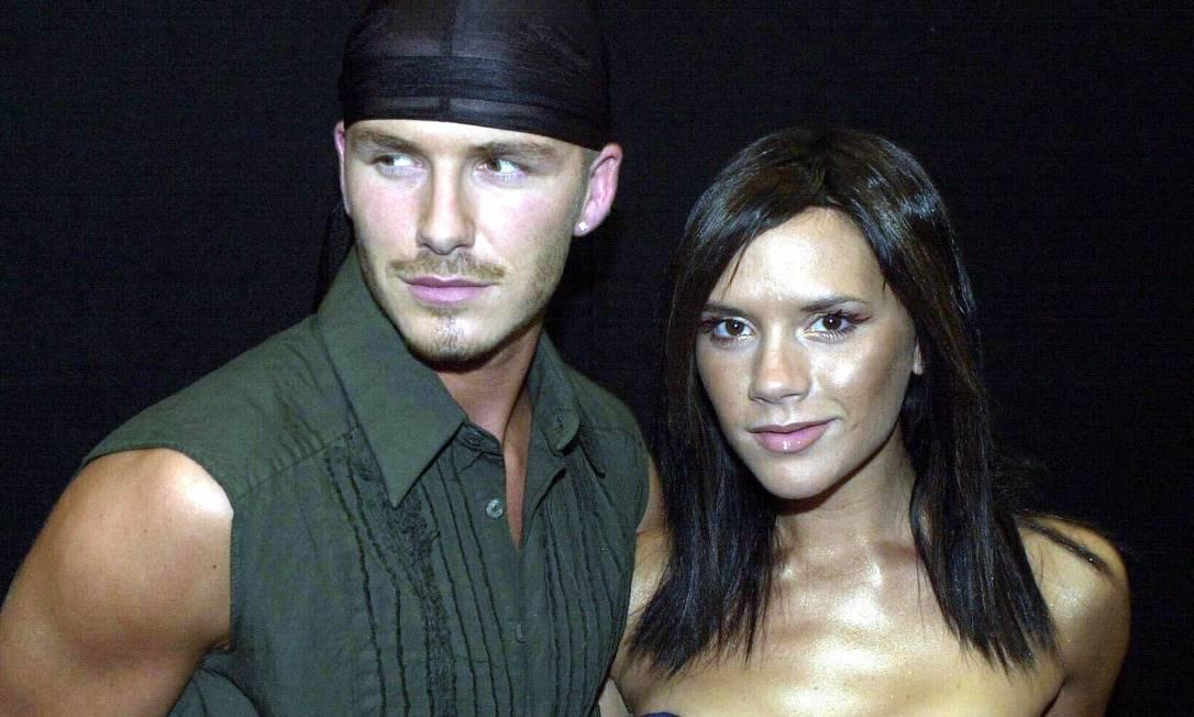 Em 2000, Victoria, mais bronzeada, ainda era uma estrela da música pop (ela era uma das inetgrantes do grupo Spice Girls) e David era influenciado pelo hip hop Matthew Fearn / AP Photo