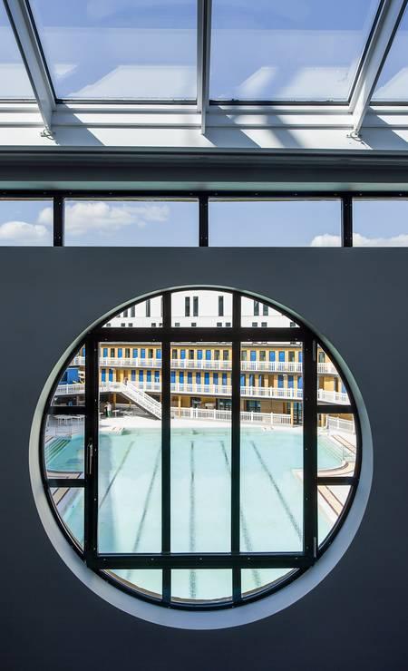 Detalhe da janela em art déco, que é a marca registrada do prédio Divulgação