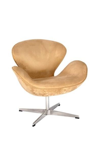 Poltrona Swan, assinada por Arne Jacobsen e estofada em veludo sintético. R$ 2.848 na Hetty Goldberg (www.hettygoldberg.com.br) Divulgação / Divulgação
