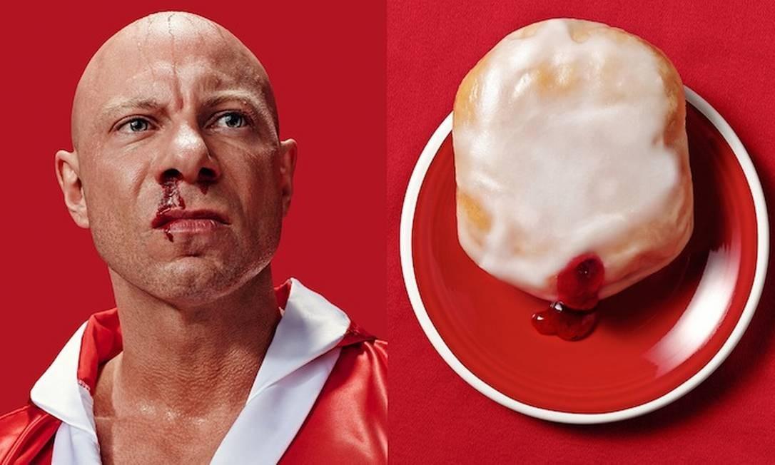 As imagens foram usadas como publicidade de um festival de comida Foto: Brandon Voges