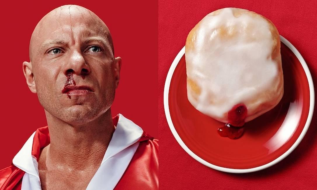 As imagens foram usadas como publicidade de um festival de comida Brandon Voges