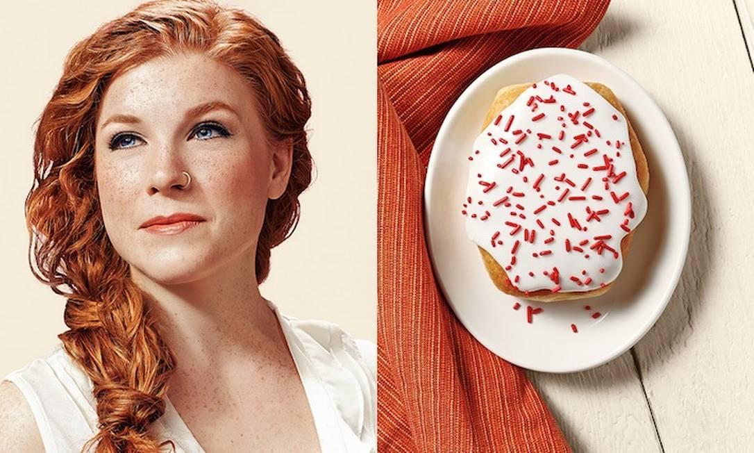 O fotógrafo americano Brandon Voges comparou o rosto de algumas pessoas com o de algumas delícias do cardápio da Strange Donuts, uma lanchonete em St. Louis, no Missouri Brandon Voges