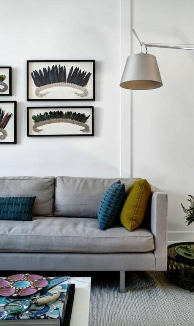 Detalhe da sala de estar: preferência por tons neutros BRUCE BUCK / NYT