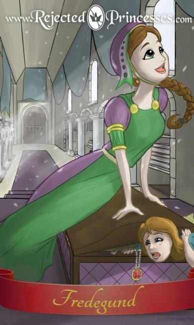"""Fredegund: rainha consorte do século VI, ela quase matou a própria filha em um baú de joias após a criança dizer que """"queria ser rainha agora"""" Rejected Princess"""