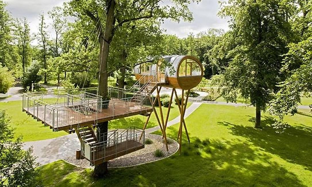 Para a empresa, casa na árvore não é sinônimo de espaço reduzido Divulgação / Baumraum