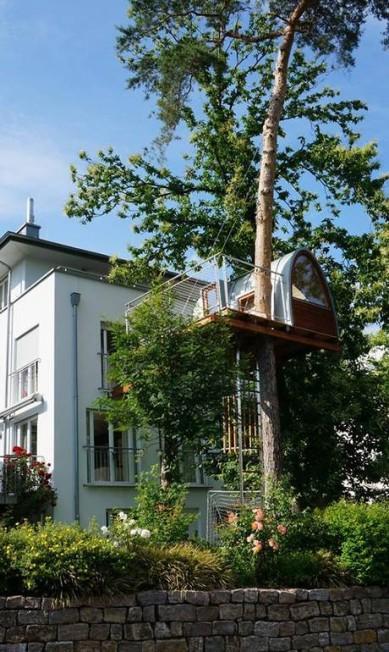 Em alguns projetos, as casas aparecem em regiões mais urbanas totalmente integrada à casa principal Divulgação / Baumraum